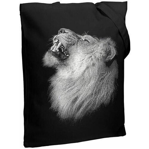 Сумка-шоппер Like a Lion, черная