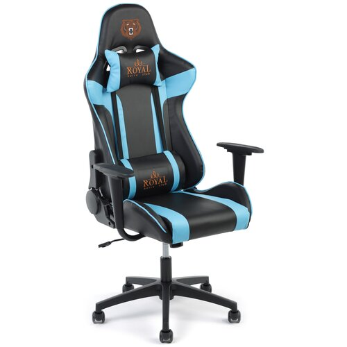 Игровое кресло Экспресс офис 133, обивка: искусственная кожа, цвет: искусственная кожа черно-голубая