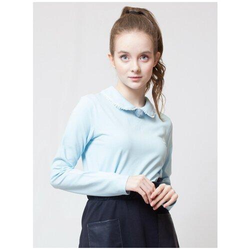 Блузка Nota Bene размер 158, голубой блузка nota bene размер 122 голубой