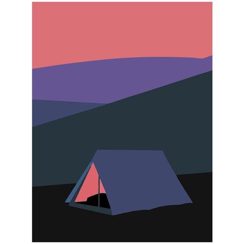 Купить Картина по номерам Минимализм - Палатка, 80 х 100 см, Красиво Красим, Картины по номерам и контурам