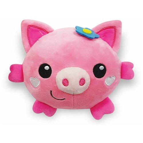 Фото - Развивающая игрушка Азбукварик Люленьки Плюшики Свинка, розовый подвесная игрушка азбукварик зайчонок люленьки желтый голубой