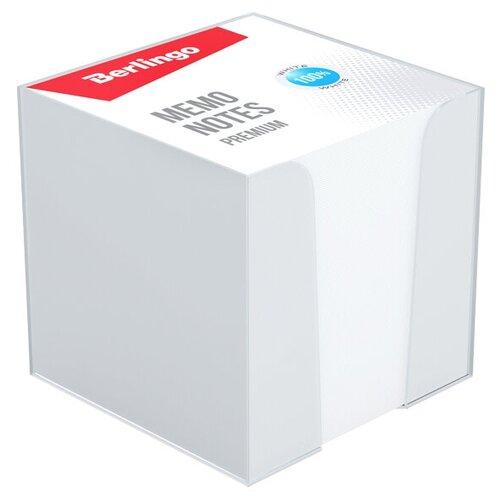 Berlingo блок для записи Premium 9 х 9 см, пластиковый бокс (ZP8608) белый