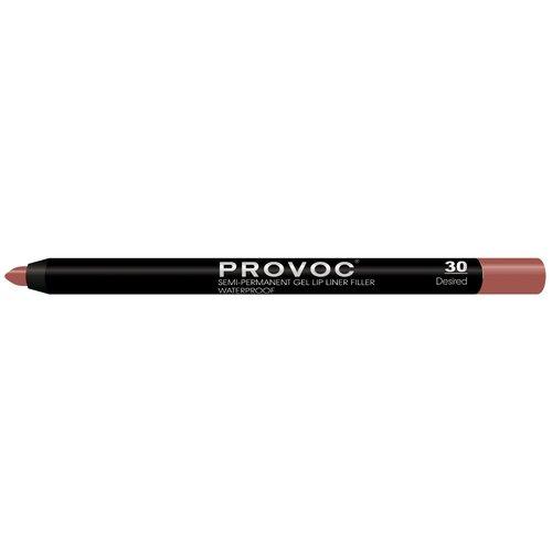 Provoc гелевая подводка в карандаше для губ Semi-Permanent Gel Lip Liner 30 desired недорого