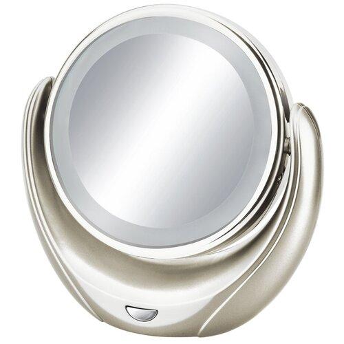 Зеркало косметическое настольное MARTA MT-2655 с подсветкой молочный жемчуг