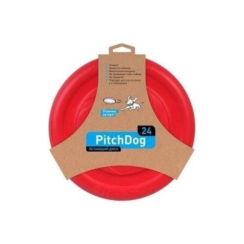 PitchDog летающий диск d 24 см, красный .