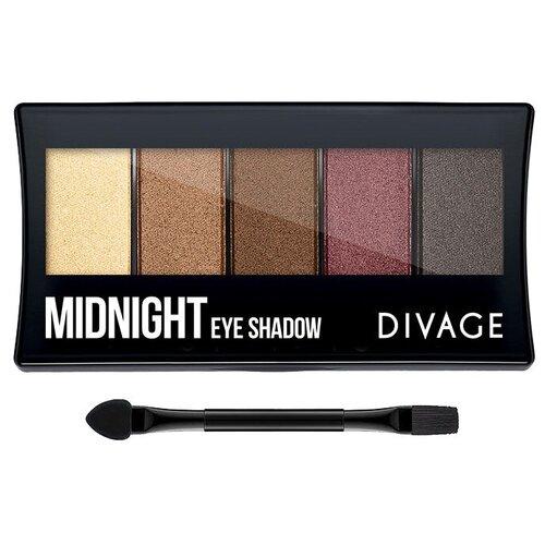 DIVAGE Палетка теней Palettes Eye Shadow midnight sleek makeup quattro eye shadow medussa s kiss палетка теней тон 331