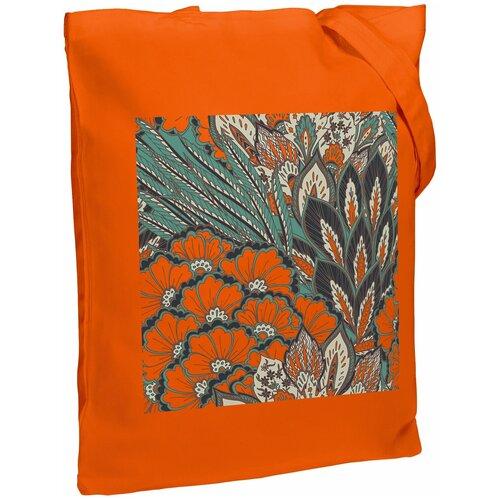 Сумка-шоппер «Пастораль», оранжевая