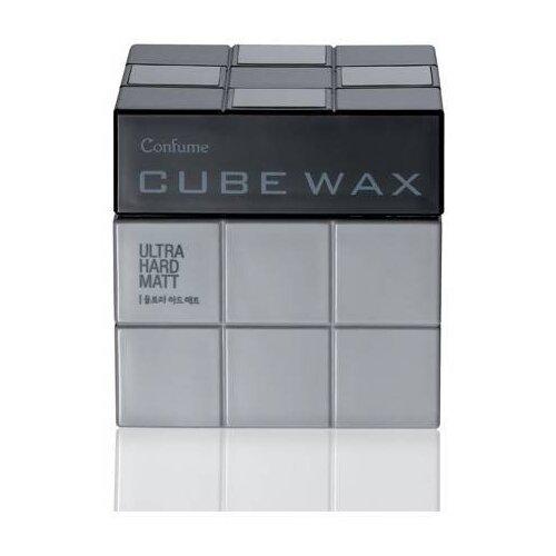 Welcos Воск Confume Cube Wax Ultra Hard Matt, экстрасильная фиксация, 80 г