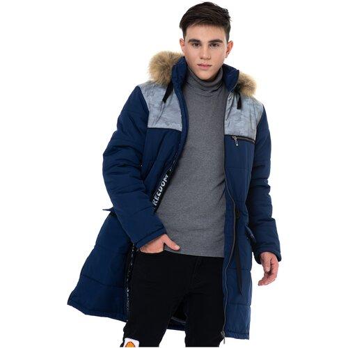 Купить Полупальто для мальчика Talvi 93563, размер 158/80, цвет синий, Пальто и плащи