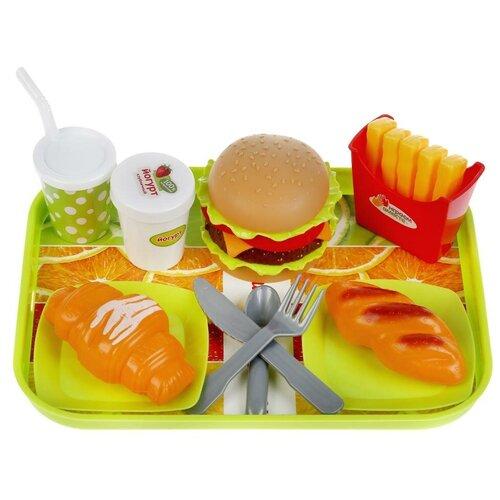 Набор продуктов с посудой Играем вместе Фастфуд на подносе 1804U096-R разноцветный ролевые игры играем вместе набор фастфуд 1901u214 r