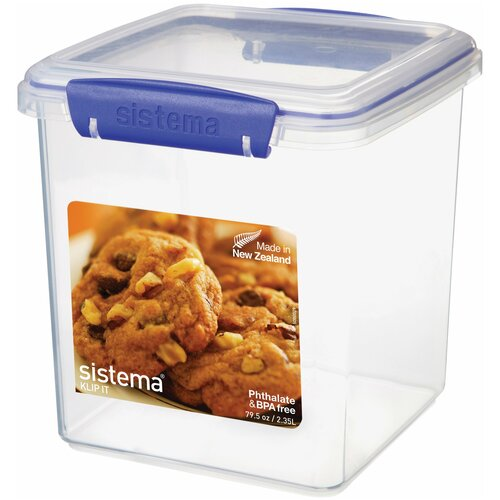 контейнер для печенья sistema 1 8 л 1333 Sistema Контейнер для печенья KLIP IT Utility 1334, 15.5x15.5 см, прозрачный
