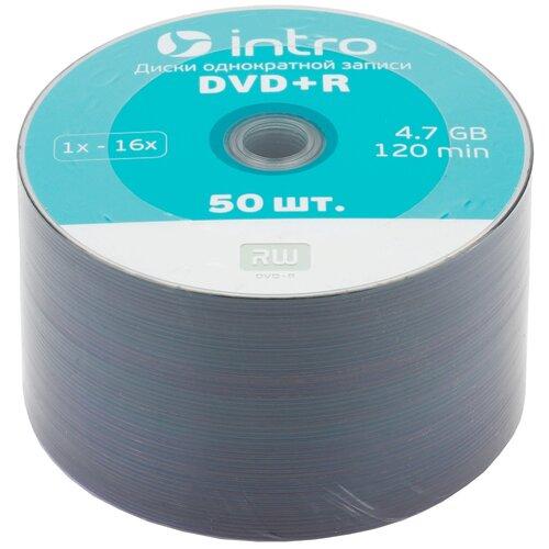 Диск DVD+R Intro 16x 4.7Gb 50 шт. bulk