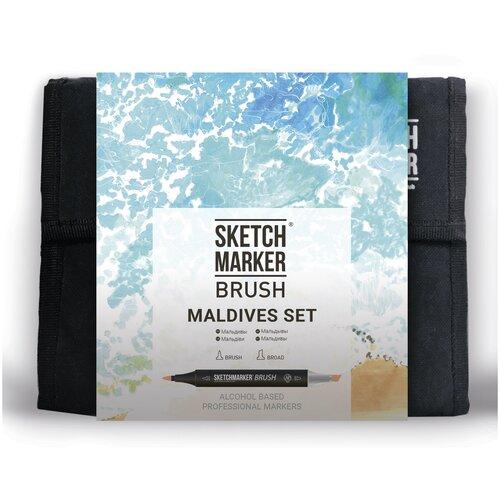 Купить SketchMarker Набор маркеров Brush Maldives Set, 36 шт., Фломастеры и маркеры