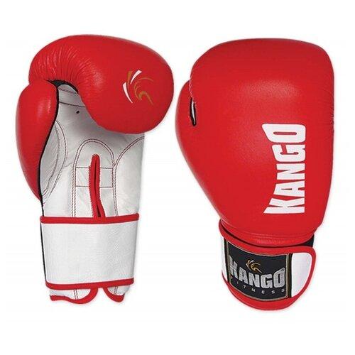Перчатки боксерские Kango BMK-004 Red/White PU 12 унций