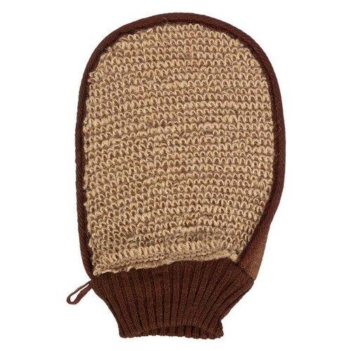 Мочалка Банные штучки Варежка 40362 коричневый