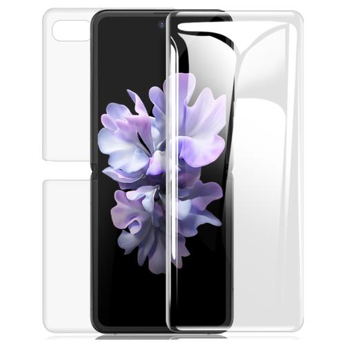3D защитная пленка MyPads с закругленными краями которое полностью закрывает экран для телефона Samsung Galaxy Z Flip SM-F700 глянцевая