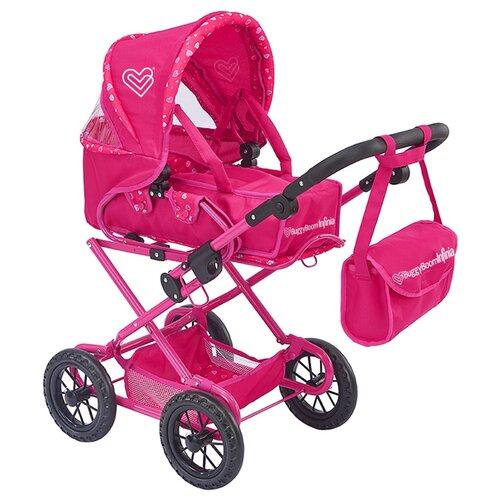 Фото - Коляска-трансформер Buggy Boom Infinia (8459) розовый/сердечки коляски для кукол buggy boom инфиниа 8459 2 в 1