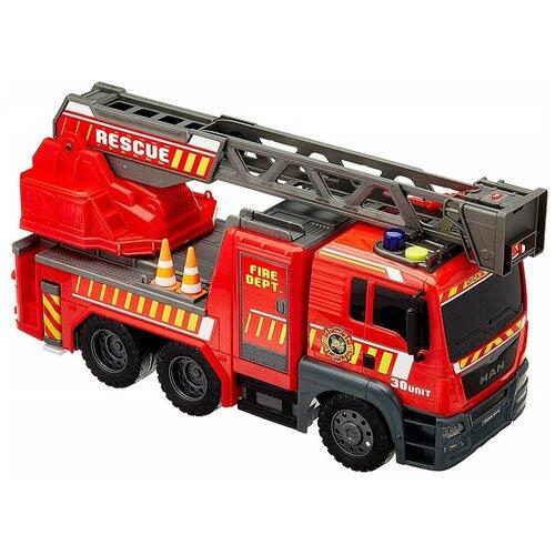 Фото - Пожарный автомобиль Dickie Toys MAN (3719017), 54 см, красный гидроцикл dickie toys пожарный сэм джуно с фигуркой и аксессуарами 9251662 красный желтый