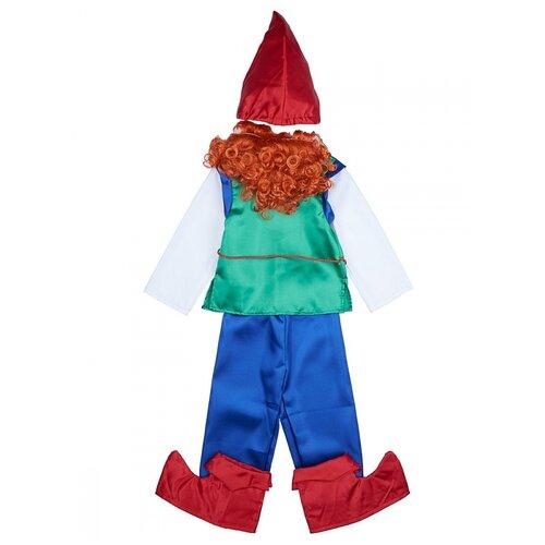 Купить Детский костюм гнома (с рыжей бородой), 104 см., Батик, Карнавальные костюмы