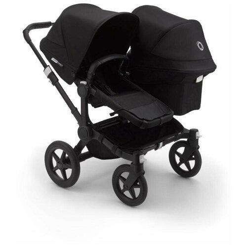 Фото - Универсальная коляска для двойни Bugaboo Donkey 3 Duo (2 в 1), black/black/black, цвет шасси: черный универсальная коляска indigo charlotte duo 2 в 1 ch31 цвет шасси черный