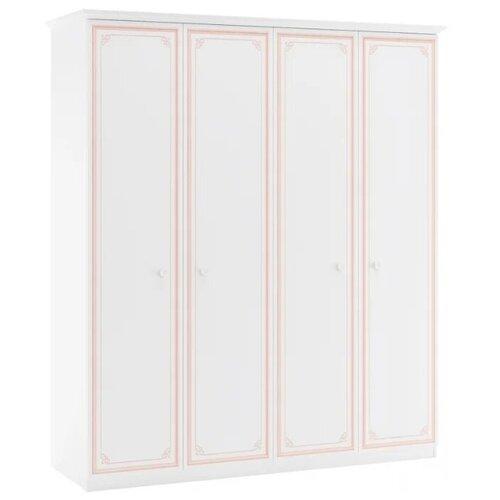 Шкаф для одежды Cilek Selena 20.70.1003.00, (ШхГхВ): 186х61х212 см, белый/розовый