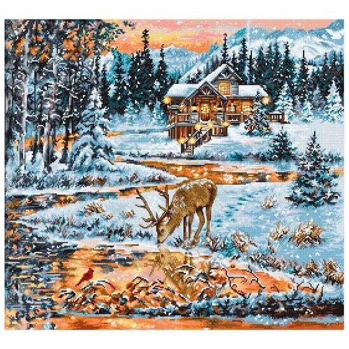 Фото - Luca-S Набор для вышивания Хижина в лесу 43.5 х 40 см (BU4022) bu4022 набор для вышивания хижина в лесу 43 5 40см luca s