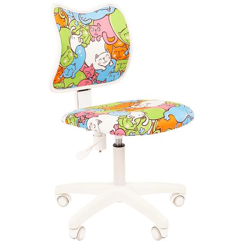 Фото - Компьютерное кресло Chairman Kids 102 детское, обивка: текстиль, цвет: котики компьютерное кресло chairman kids 101 детское обивка текстиль цвет монстры