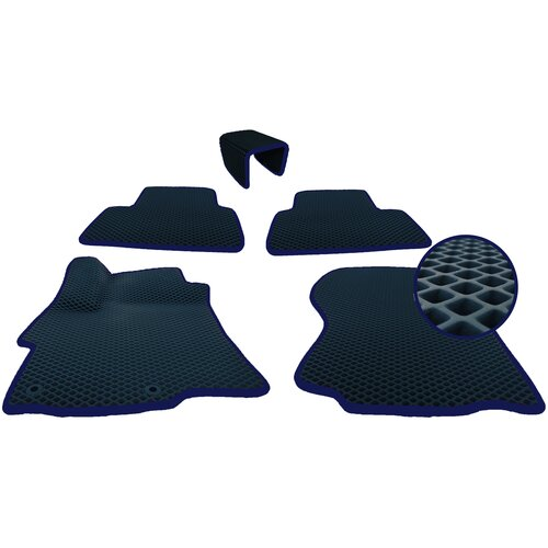 Коврики EVA (ЭВА ромб) 3D для Skoda Rapid I (2012-2020)/Шкода Рапид I