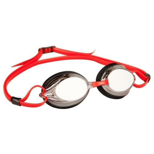 Очки для плавания MAD WAVE Spurt Mirror, red/black очки для плавания mad wave spurt rainbow azure white