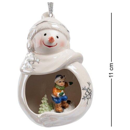 Фигурка подвесная Веселый снеговик CMS-39/10, Pavone