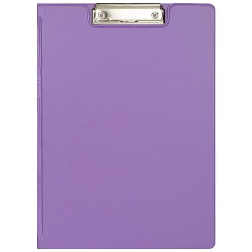 Attache Папка-планшет с зажимом A4 Bright colours, картон/ПВХ сиреневый