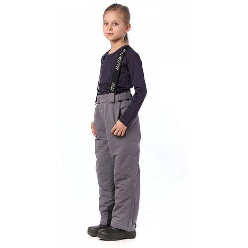 Горнолыжные брюки подростковые AZIMUTH 291 ПД (Светл.серый/128)