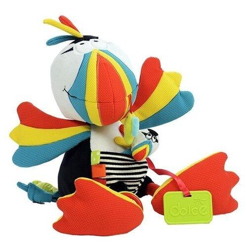 Развивающая игрушка Dolce Попугайчик, бело-красно-голубой развивающая игрушка dolce попугайчик бело красно голубой