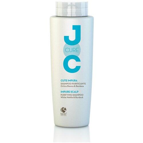Фото - Barex шампунь JOC Cure Impure Scalp очищающий с экстрактом белой крапивы, 250 мл barex шампунь joc cure energizing против выпадения волос с имбирем корицей и витаминами 250 мл