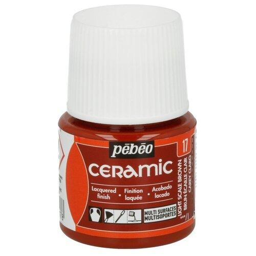 Купить Краска по керамике и металлу Pebeo Ceramic, 45 мл, коричневый, Краски