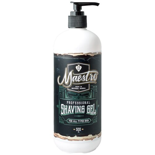 Фото - Гель для бритья Professional Shaving Gel Maestro, 500 мл kondor гель shaving gel для бритья 750 мл