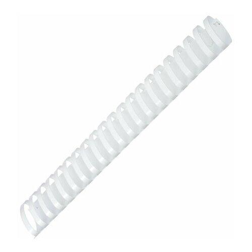 Фото - Пружины пластиковые для переплета, КОМПЛЕКТ 50 шт., 51 мм (для сшивания 411-450 л.), белые, ОФИСМАГ, 531466 531466 пружины пластиковые для переплета комплект 50 шт 51 мм для сшивания 411 450 л белые офисмаг 531466