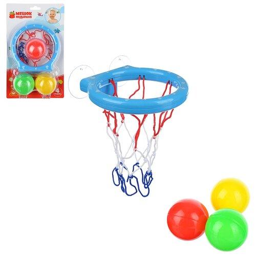 Фото - Корзина баскетбольная для ванной, на присосках с тремя мячиками, Мешок Подарков мягкие игрушки стрекоза мешок для подарков барон