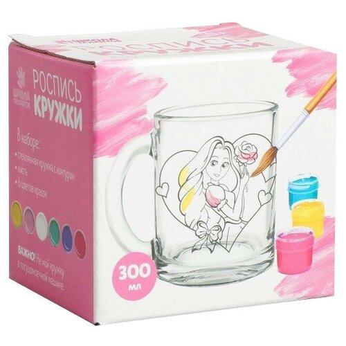 Купить Школа талантов Роспись стеклянной кружки красками Принцесса с розой (4583509), Роспись предметов