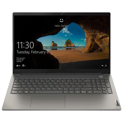 "Ноутбук Lenovo ThinkBook 15 G2 ITL (Intel Core i5 1135G7 2400MHz/15.6""/1920x1080/8GB/256GB SSD/DVD нет/Intel Iris XE Graphics/Wi-Fi/Bluetooth/Windows 10 Pro)"" 20VE009BRU mineral grey"