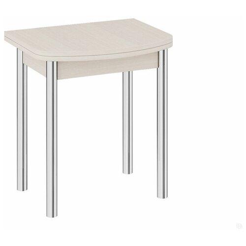 Стол кухонный ТриЯ Лион мини, раскладной, ДхШ: 55 х 70 см, длина в разложенном виде: 110 см, дуб белфорт