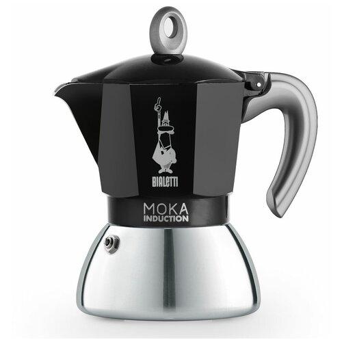 Гейзерная кофеварка Bialetti Moka Induction Black на 4 порции (6934)