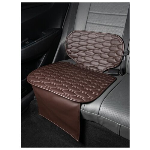 Чехлы (накидки) под бустеры. Защита сидений авто. Цвет: шоколадный. 1 шт. СОЛО