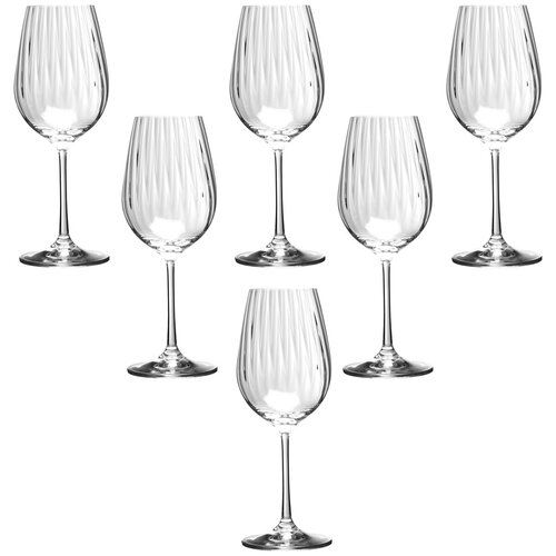 Набор бокалов для вина, 6 шт. 674-102 Bohemia Crystal Waterfal. 350 мл