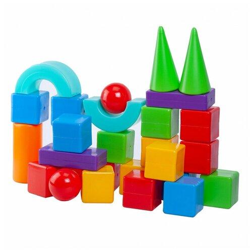 Конструктор Юг-Пласт Строитель 28 деталей пластик Юг-Пласт