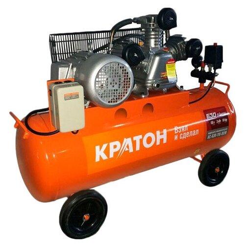 Компрессор масляный Кратон AC-630-110-BDW, 110 л, 2.94 кВт компрессор масляный кратон ac 360 100 ddv 100 л 2 2 квт