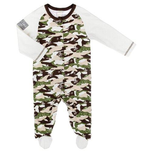 Купить Комбинезон lucky child размер 20 (62-68), милитари, Комбинезоны