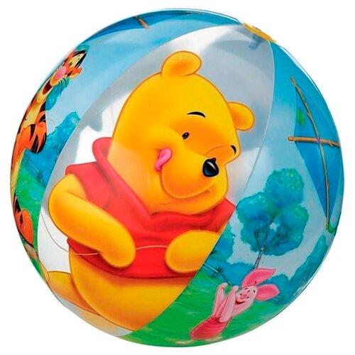 Надувной мяч Intex Винни-Пух 58056 голубой/желтый/красный