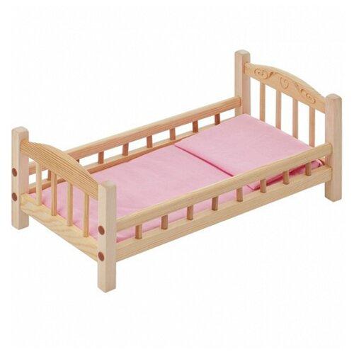Купить PAREMO Кроватка для куклы с комплектом белья (PFD116) бежевый/розовый, Мебель для кукол