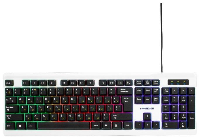 Клавиатура Гарнизон GK-110L Black-White USB — купить по выгодной цене на Яндекс.Маркете